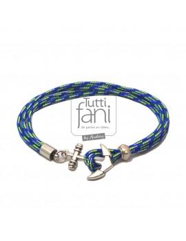 Bracelet homme bleu ancre