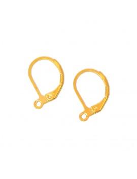 Boucles d'oreilles dormeuses classique doré