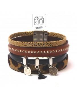 Bracelet manchette en cuir...