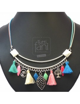 Collier plastron couleurs...