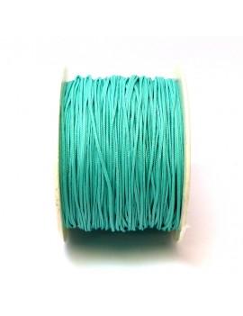 Cordon polyester 1mm vert d'eau - 50 cm