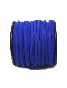 Daim 3 mm bleu électrique -...