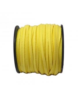 Daim 3 mm jaune banane - 50 cm
