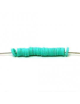 Perle Heishi turquoise 5 mm