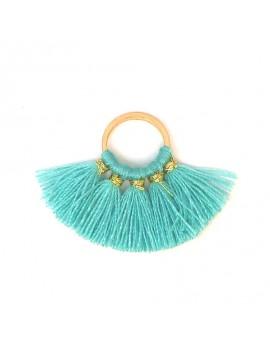 Pompons éventail turquoise...