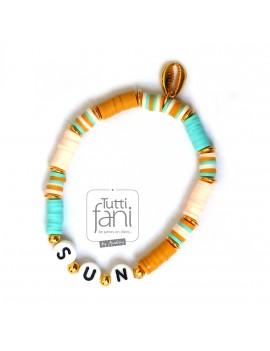 Bracelet perles Heishi Sun