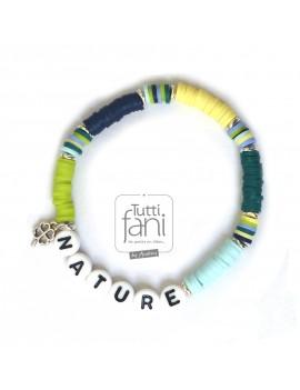 Bracelet perles Heishi nature
