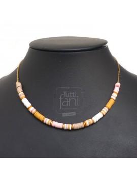 Collier perles Heishi...
