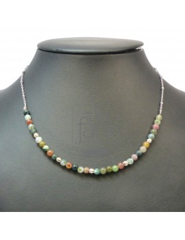 Collier agate indienne