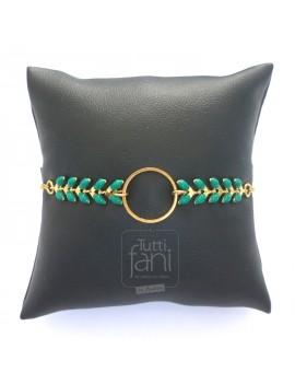 Bracelet anneau et chaine...