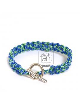 Bracelet homme macramé bleu...