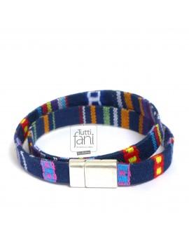 Bracelet homme 2 tours multicolor
