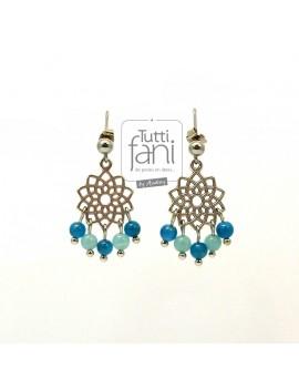 Boucles d'oreilles Mandalas et perles naturelles