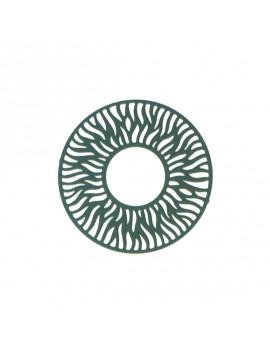 Estampe ronde vert forêt 30 mm