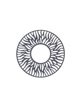 Estampe ronde bleu marine 30 mm