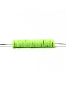 Perle Heishi vert clair 5 mm