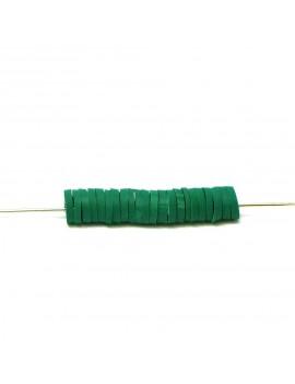 Perle Heishi vert foncé 5 mm