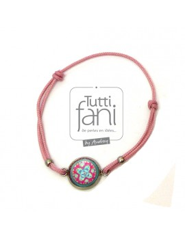 Bracelet enfant cabochon rose