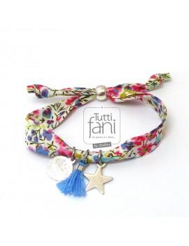 Bracelet enfant Liberty multicolor et breloques