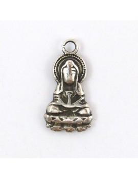 Bouddha assis argent...