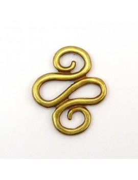 Serpentin bronze 25x30 mm