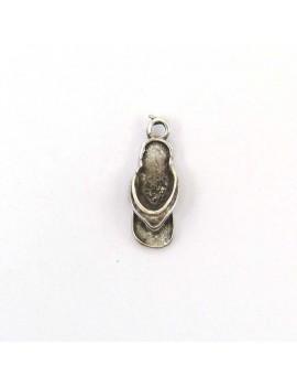 Tong argent vieilli 7x18 mm