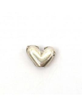 Perle coeur argent vieilli...