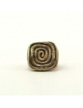 Perle carré spirale argent...