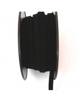 Daim 6 mm noir - 50 cm