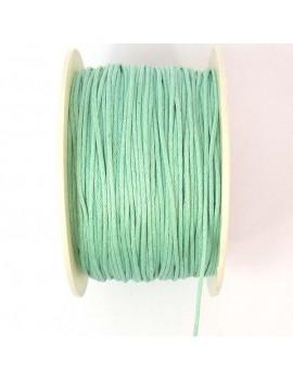 Coton ciré 1 mm vert menthe...