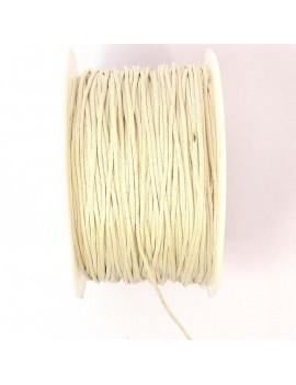Coton ciré 1 mm beige - 50 cm