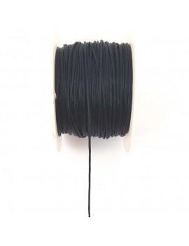 Coton ciré 1 mm noir - 50 cm