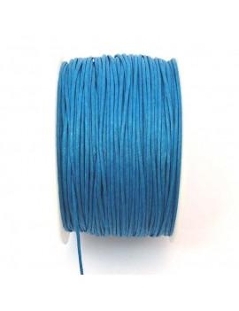 Coton ciré 1 mm turquoise -...