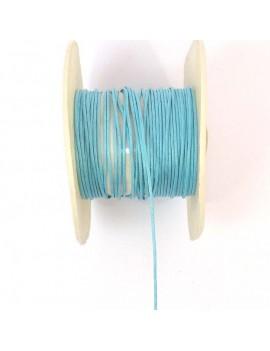 Coton ciré 1 mm bleu ciel -...