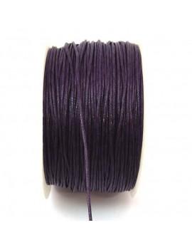 Coton ciré 1 mm prune - 50 cm