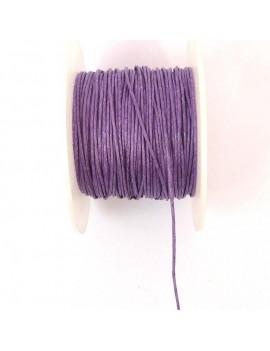 Coton ciré 1 mm violet - 50 cm