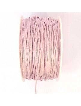 Coton ciré 1 mm rose pâle -...