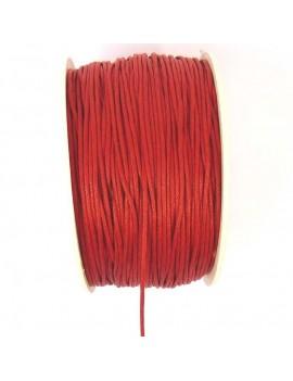 Coton ciré 1 mm rouge - 50 cm