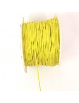 Coton ciré 1 mm jaune - 50 cm