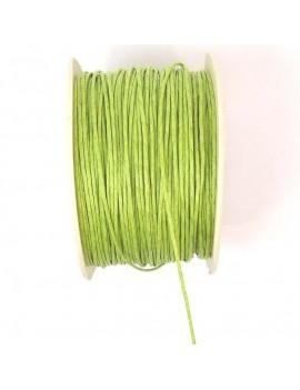 Coton ciré 1 mm vert pomme...