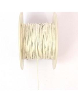 Coton ciré 1 mm blanc - 50 cm