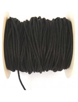 Coton ciré 2 mm noir - 50 cm
