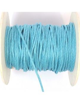 Coton ciré 2 mm bleu ciel -...
