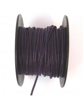 Coton ciré 2 mm prune - 50 cm