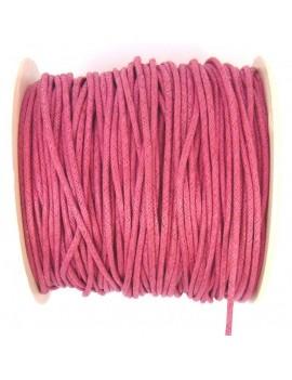 Coton ciré 2 mm fushia - 50 cm