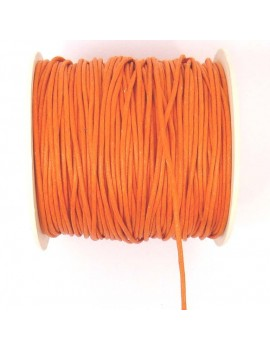 Coton ciré 2 mm mandarine -...