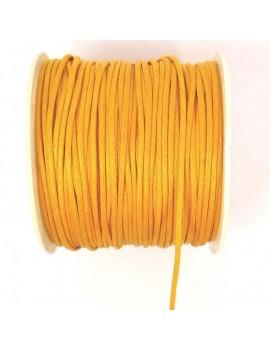 Coton ciré 2 mm orange - 50 cm