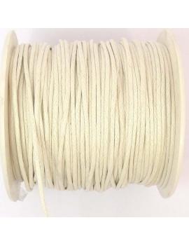Coton ciré 2 mm blanc - 50 cm