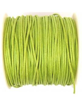 Coton ciré 2 mm vert pomme...