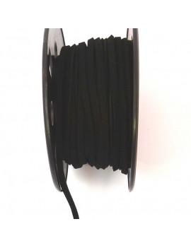 Daim 3 mm noir - 50 cm